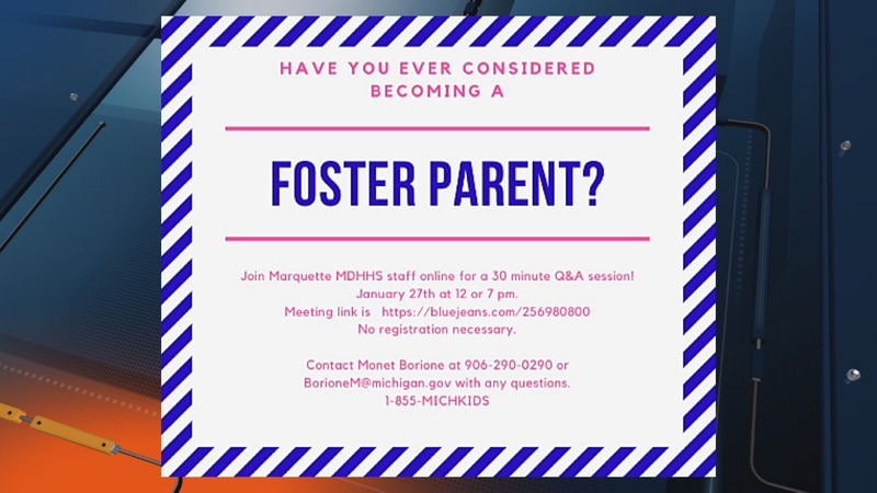 If you or someone you know is interested in becoming a foster parent call 1-855-MICHKID. You...