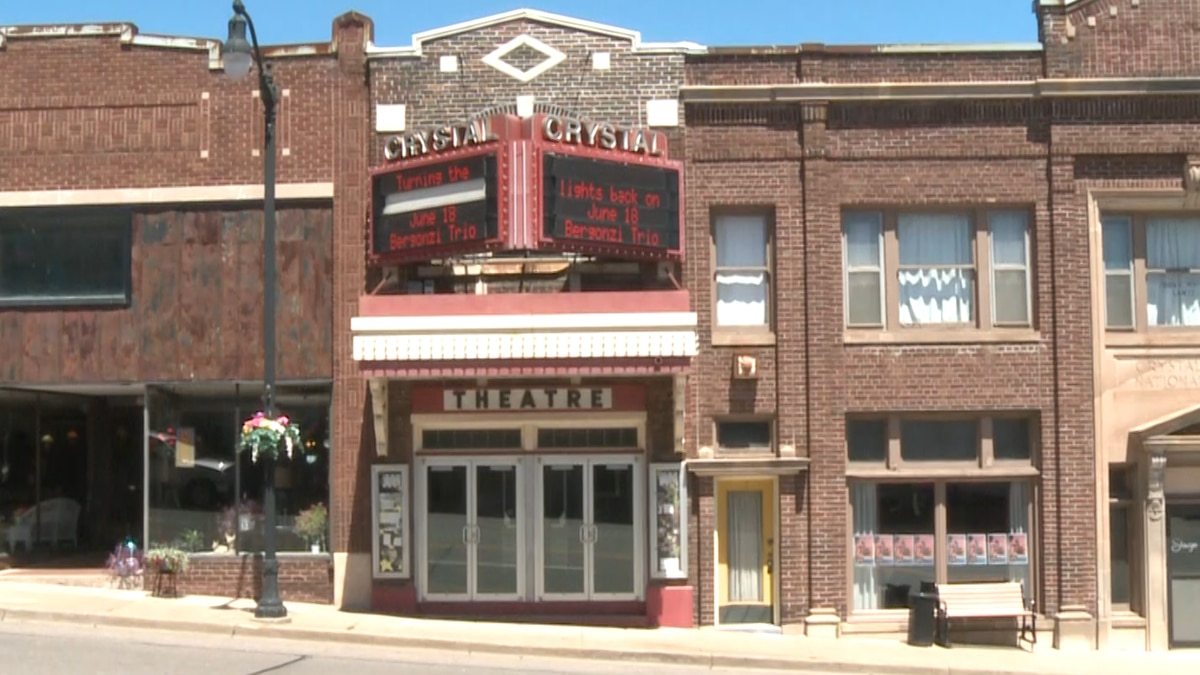 Crystal Theatre in Crystal Falls, Mich., in June 2021.