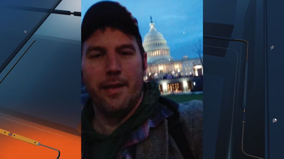 A selfie Karl Dresch took at the U.S. Capitol and shared with another Facbeook user, according...