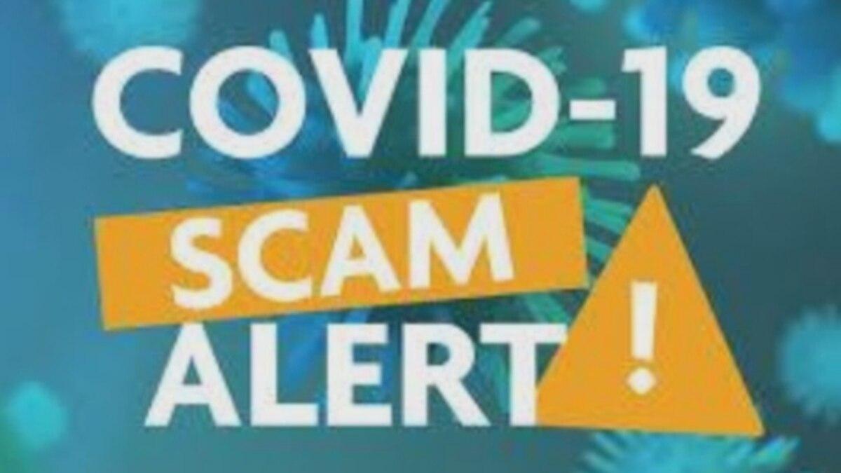 COVID-19 scam alert.