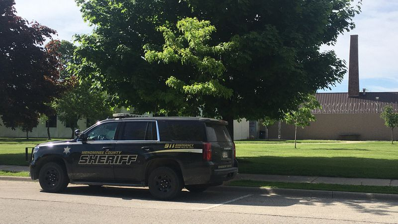 A Menominee County Sheriff's Office patrol vehicle.