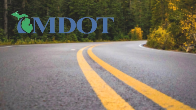 MDOT logo and a road.